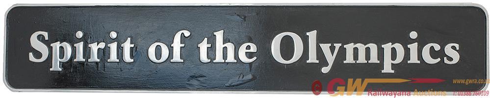 Diesel Locomotive Nameplate SPIRIT OF THE