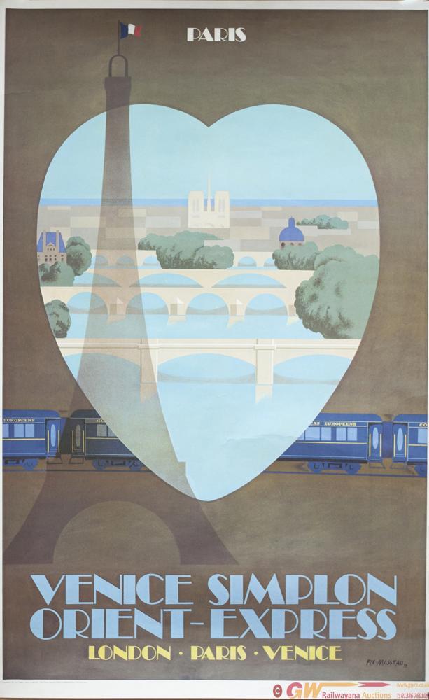 Poster VSOE PARIS VENICE SIMPLON ORIENT EXPRESS By