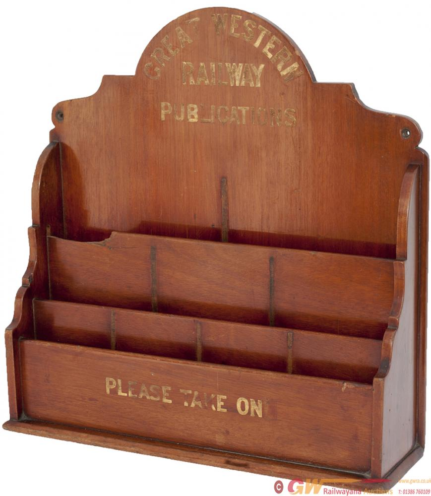 Great Western Railway Mahogany Publication Rack,
