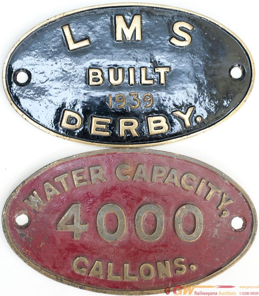 Worksplate LMS BUILT 1939 DERBY From A Johnson 4f