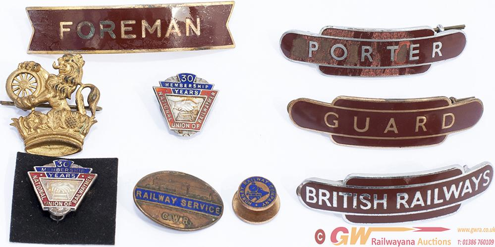 BR Capbadges Etc, A Selection To Include: BR-W