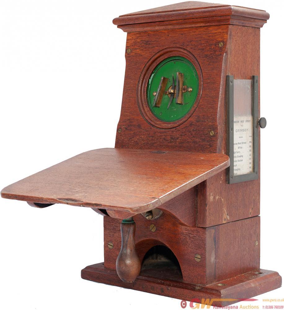GNR Mahogany Cased Single Needle Telegraph Block