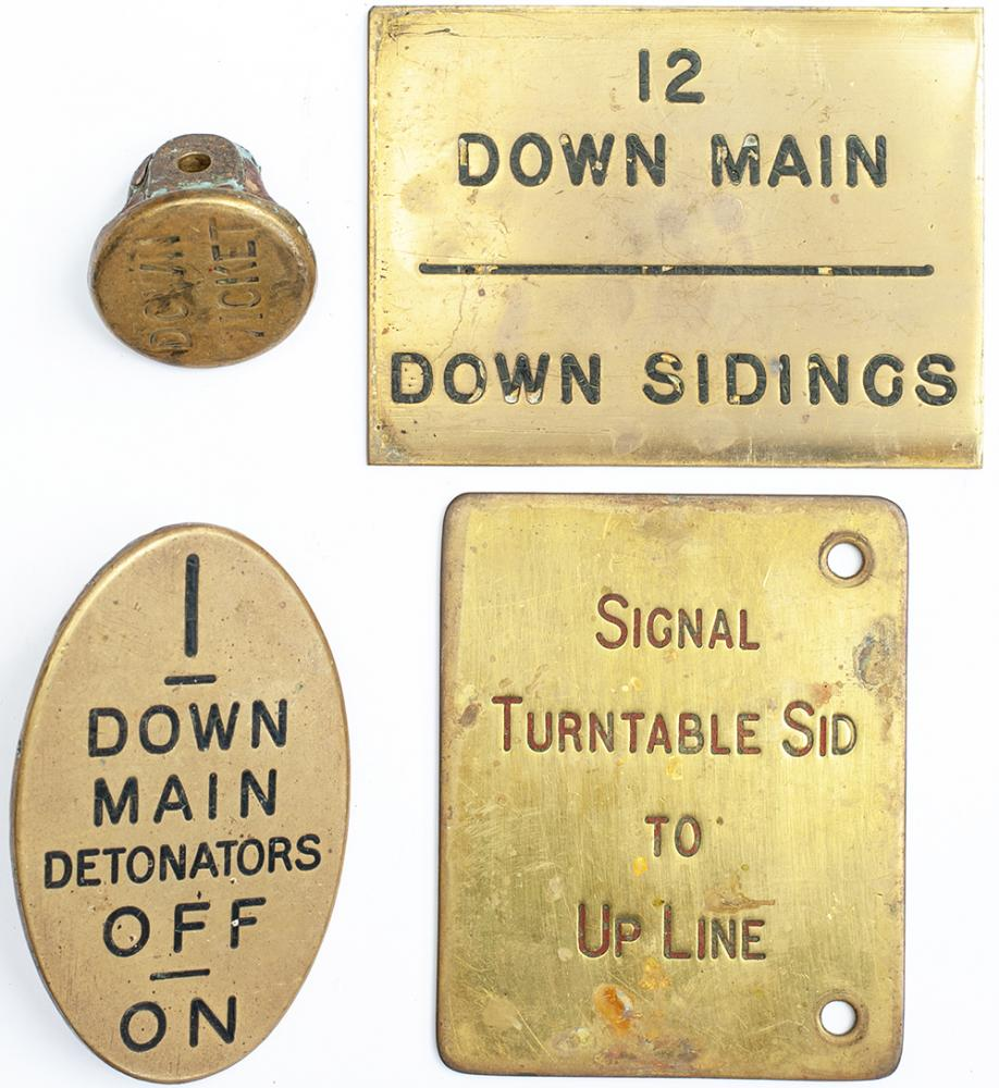 Signal Lever Leads And Plates To Include; GWR