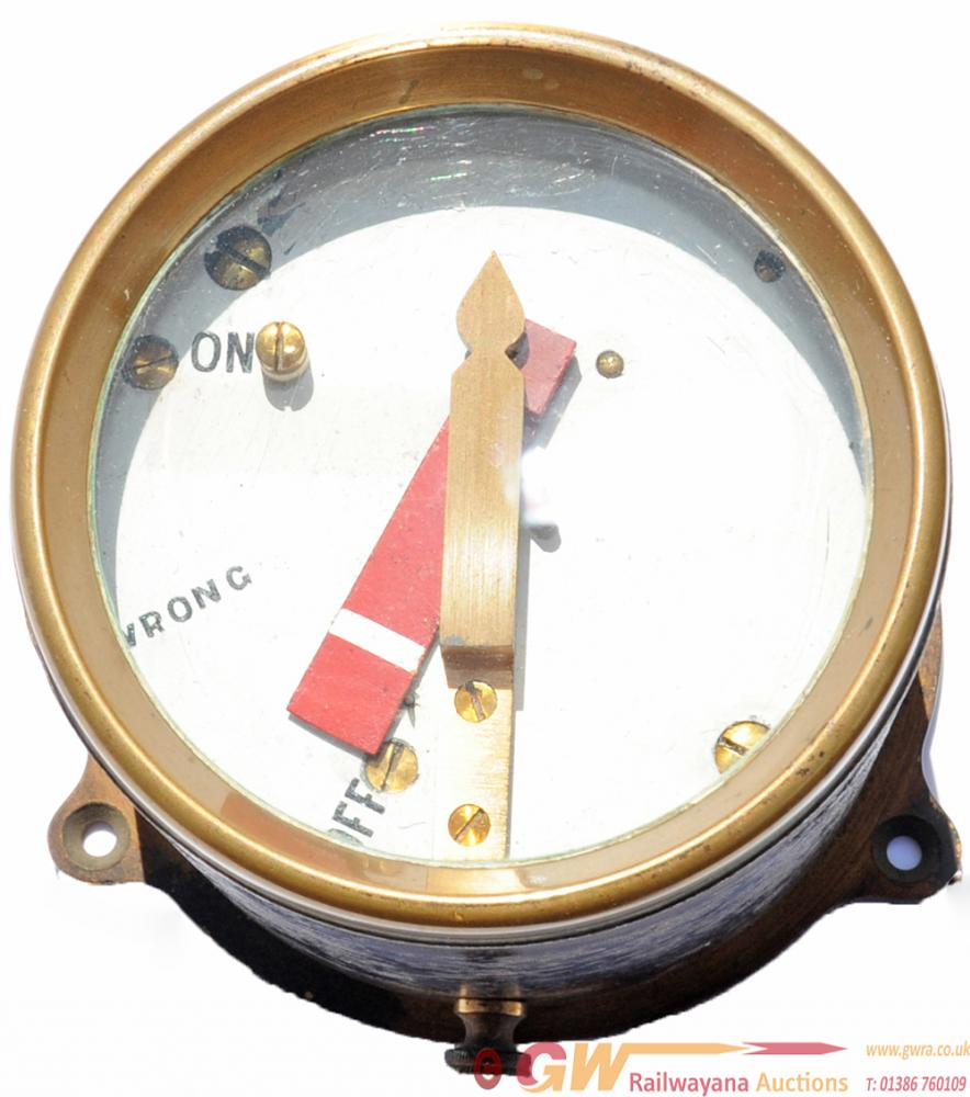 GWR Brass Cased Home Signal Indicator,