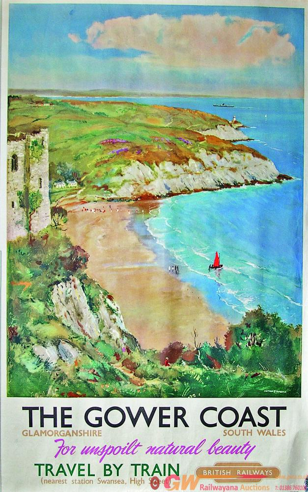 Poster, 'The Gower Coast Glamorganshire South