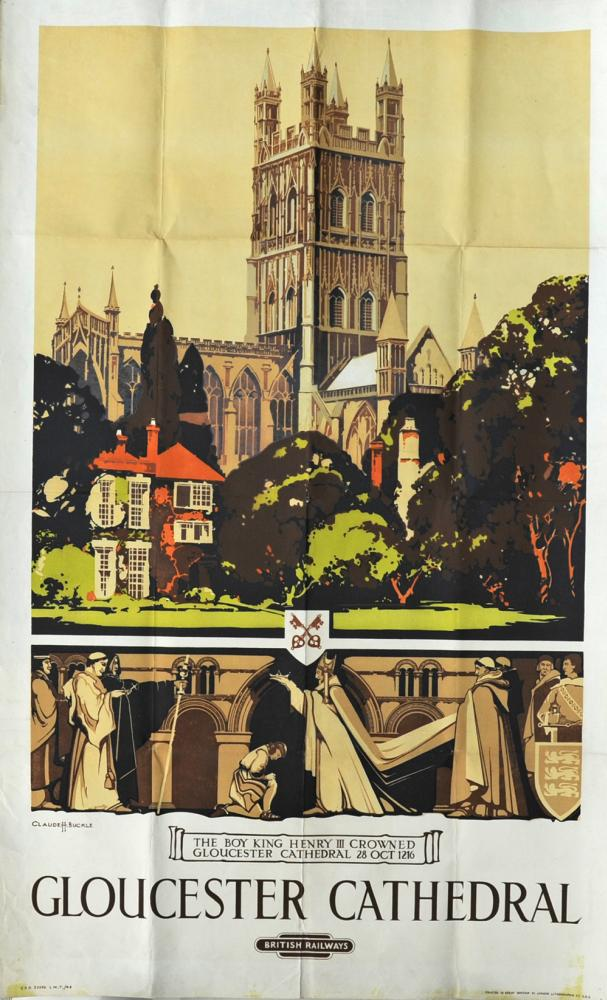 BR Poster 'Gloucester Cathedral' By Claude Buckle