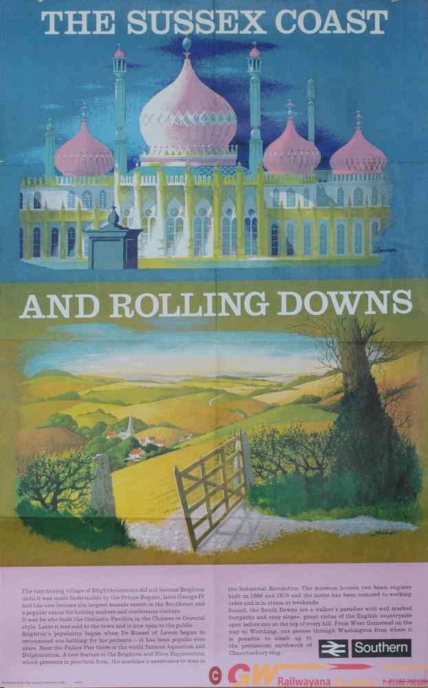 Poster BR(S) 'The Sussex Coast & Rolling Downs' By