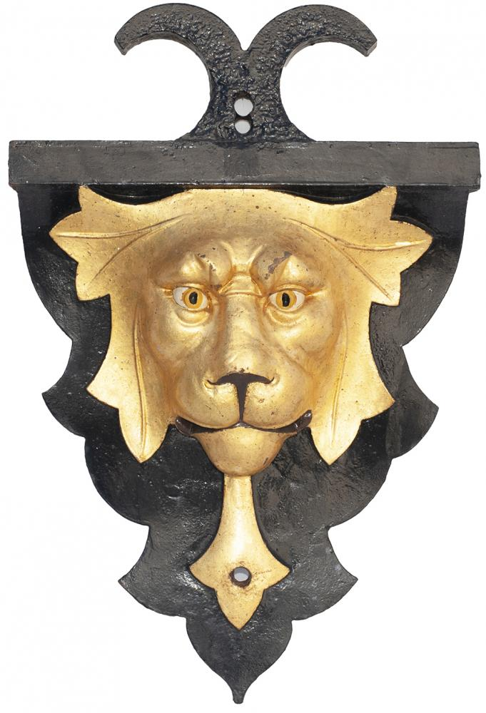 <P>GWR Cast Iron LIONS HEAD As Fitted To Some Of