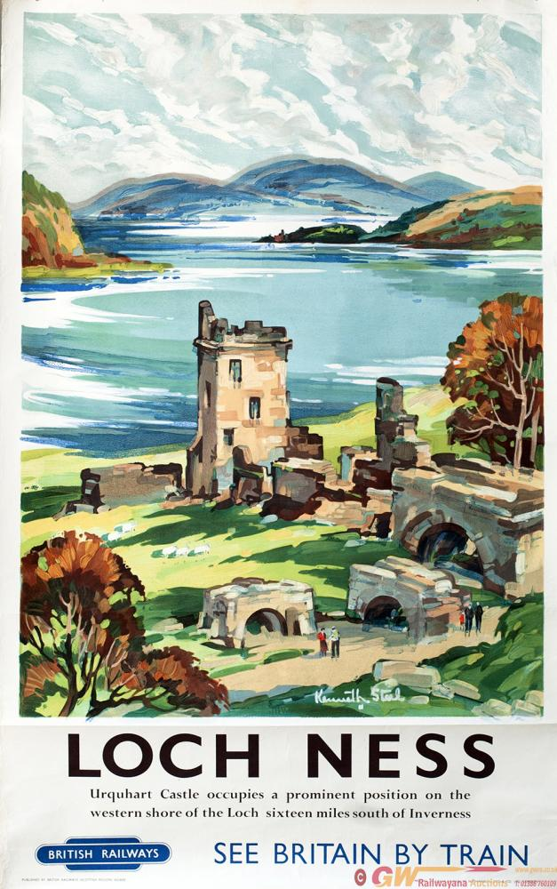 Poster BR LOCH NESS By Kenneth Steel. Double Royal