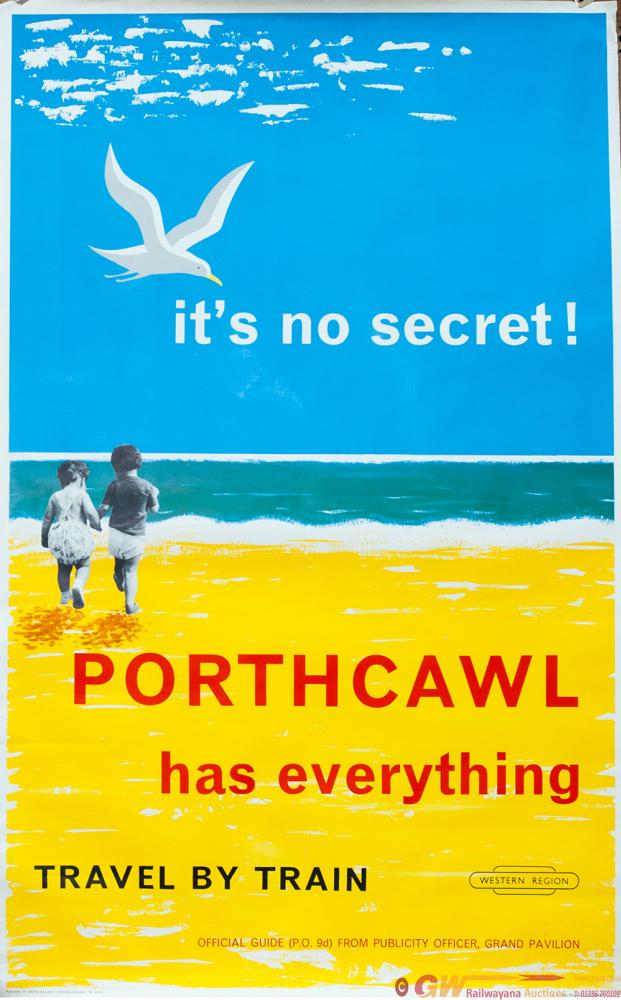 Poster BR PORTHCAWL ITS NO SECRET HAS EVERYTHING.