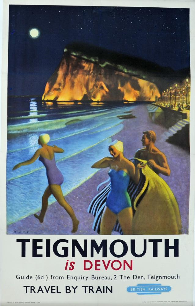 BR Poster 'Teignmouth Is Devon' By Mays, 1957