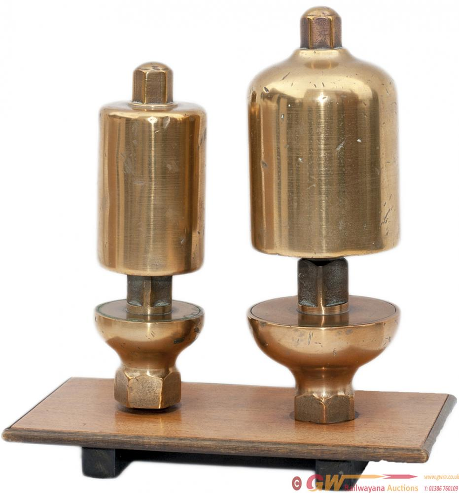 A Pair Of GWR Locomotive Whistles, Large And