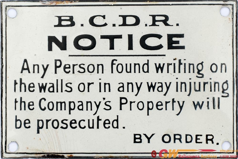 Belfast And County Down Railway Enamel Sign