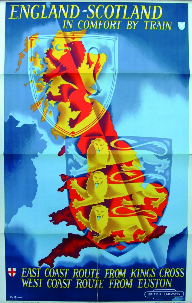 Poster 'England Scotland In Comfort By Train -