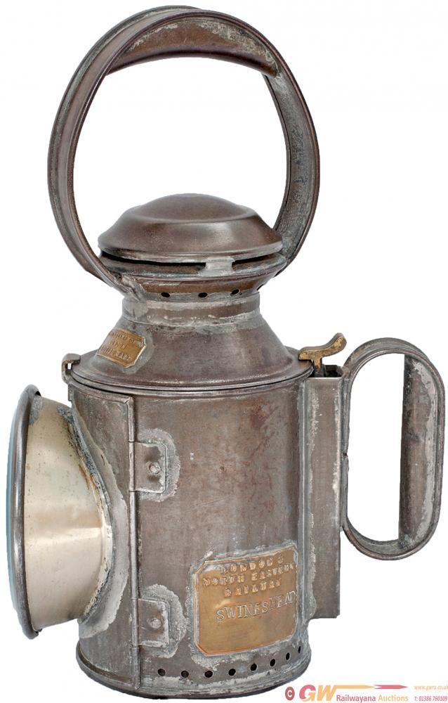 LNER 3 Aspect Saucer Top Handlamp, Brass Plated