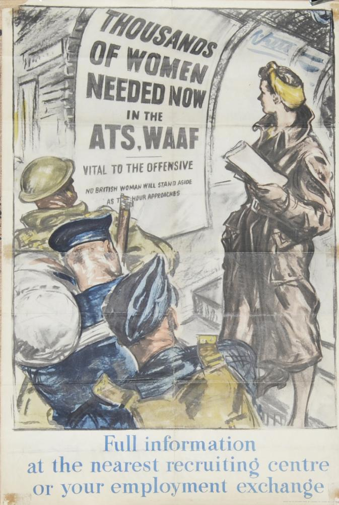 Wartime Poster, 'Thousands Of Women Needed Now In