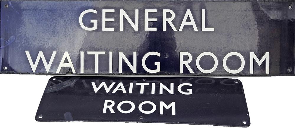 LNER Enamel Sign GENERAL WAITING ROOM 28 X 7. Some