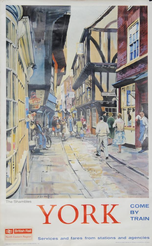 Poster British Rail 'York - The Shambles' By A.