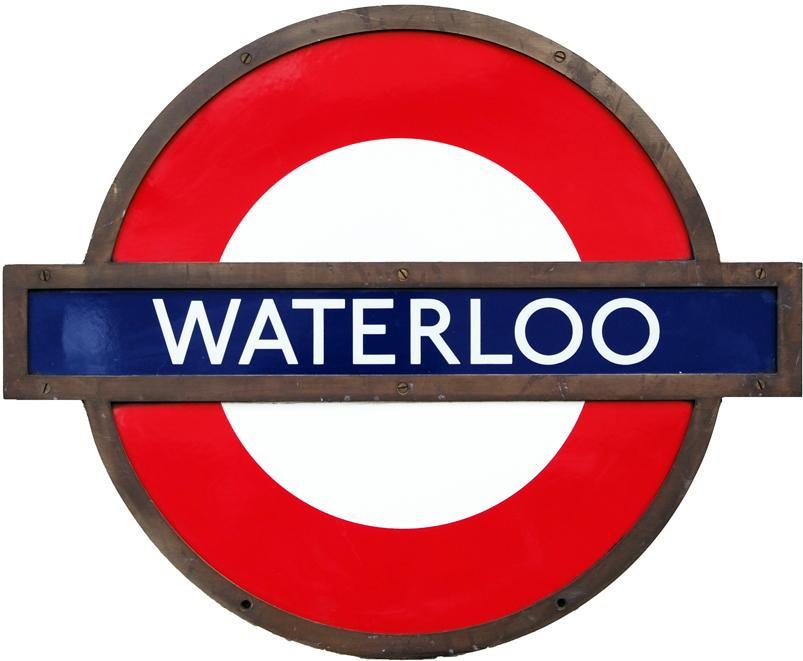 London Transport Enamel Target With Full Bronze