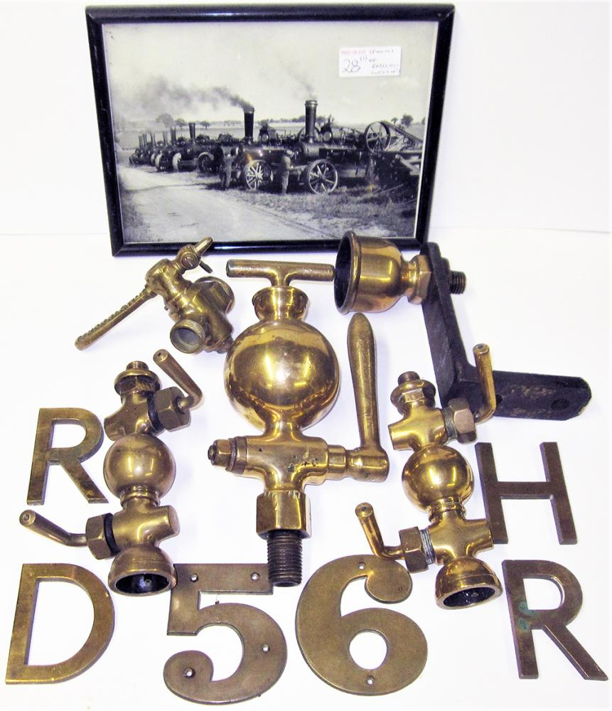 A Collection Of Traction Engine Parts To Include