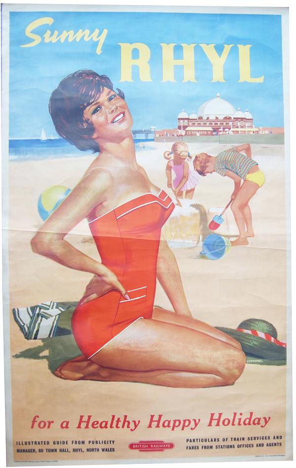 Poster ' Sunny Rhyl For A Healthy Happy Holiday'