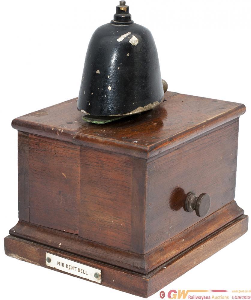 Sykes Small Mahogany Cased Split Case Block Bell,