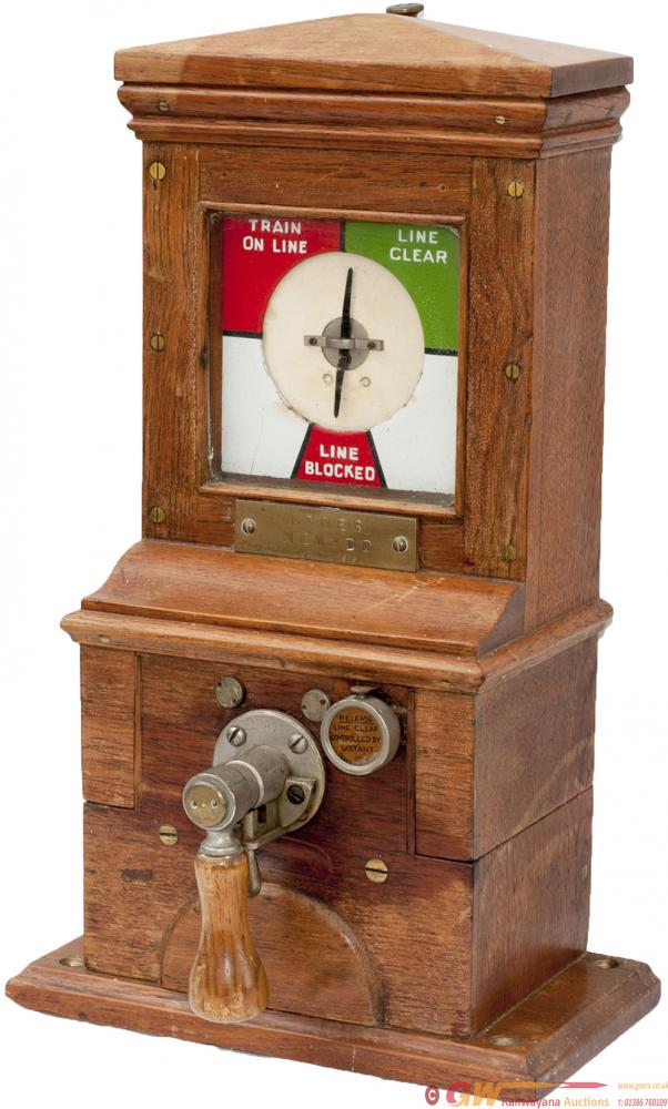 Midland Railway Oak Cased Pegging Block Instrument