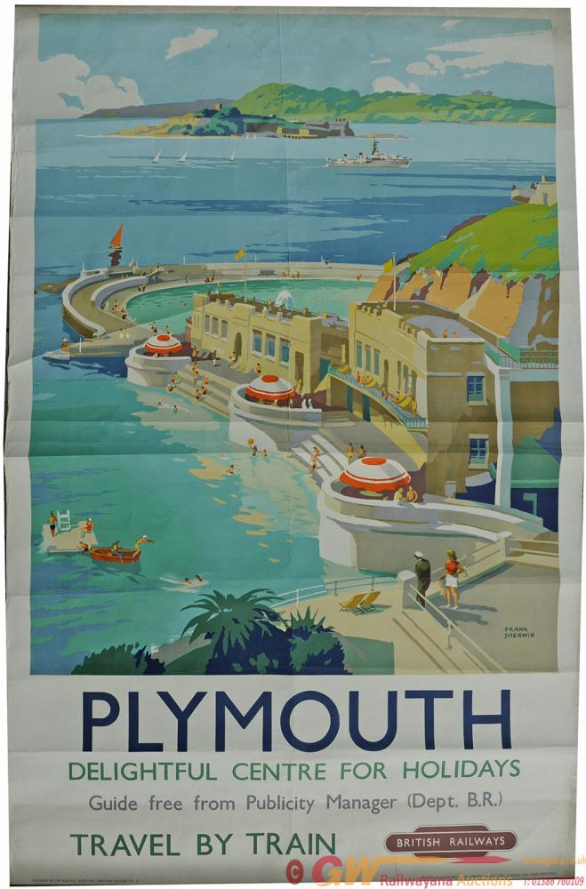 Poster BR 'Plymouth' By Frank Sherwin, Double