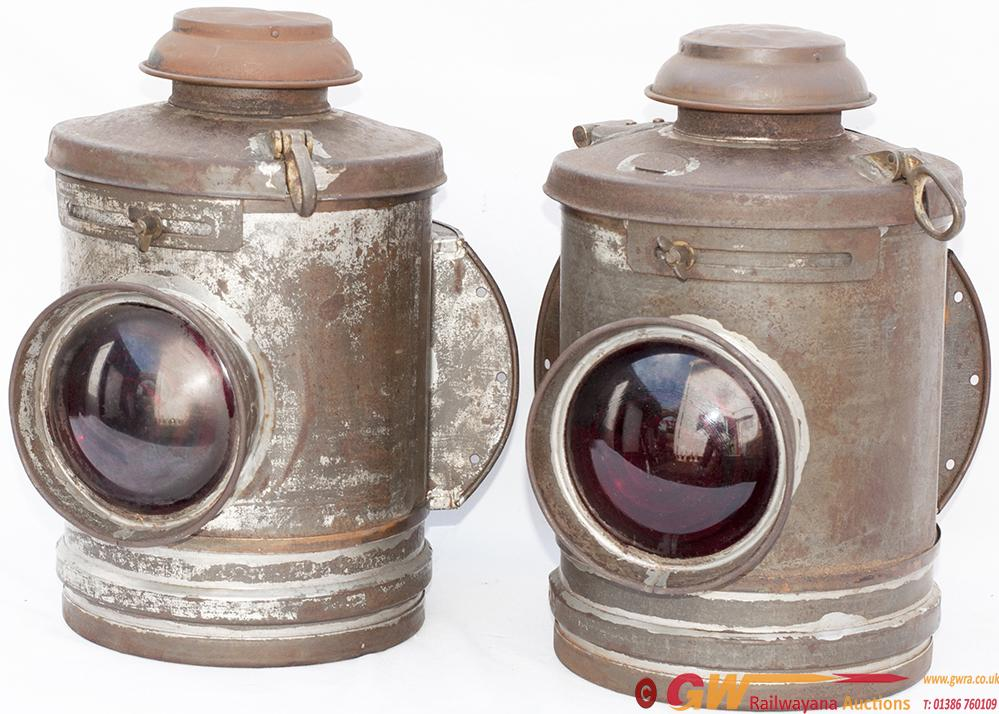A Pair Of Southern Railway Crossing Gate Lamps,