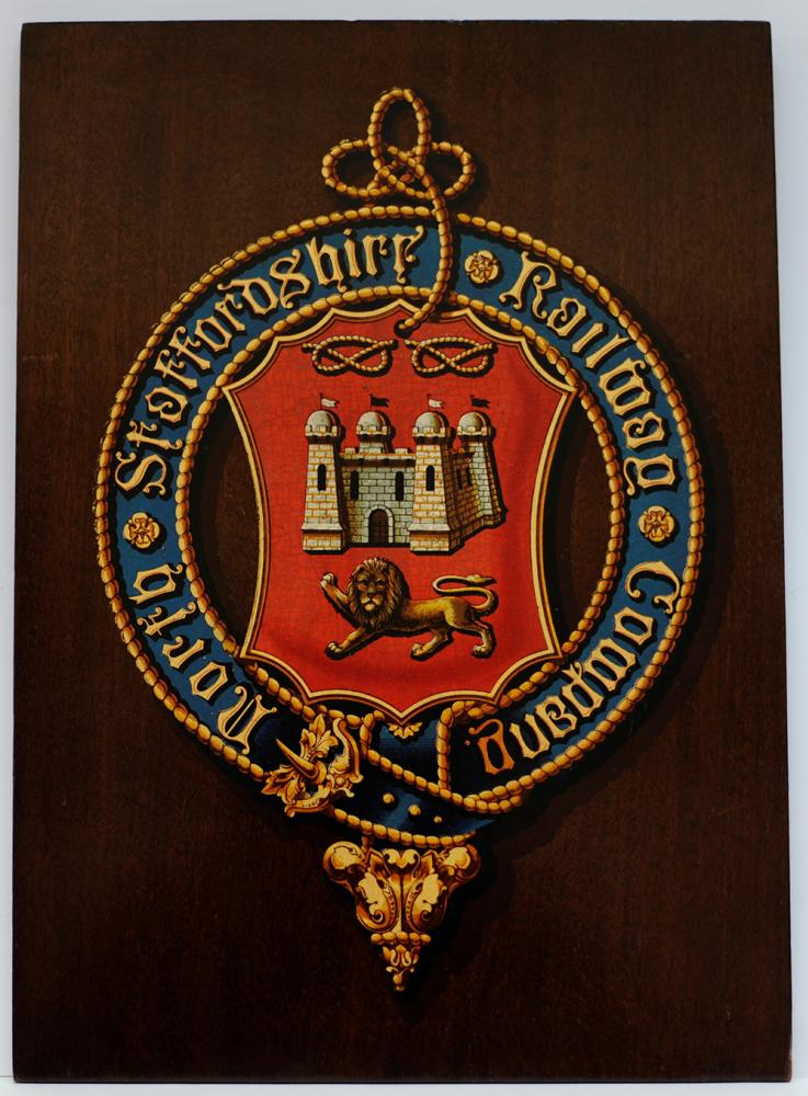 North Staffordshire Railway Mounted Crest. The