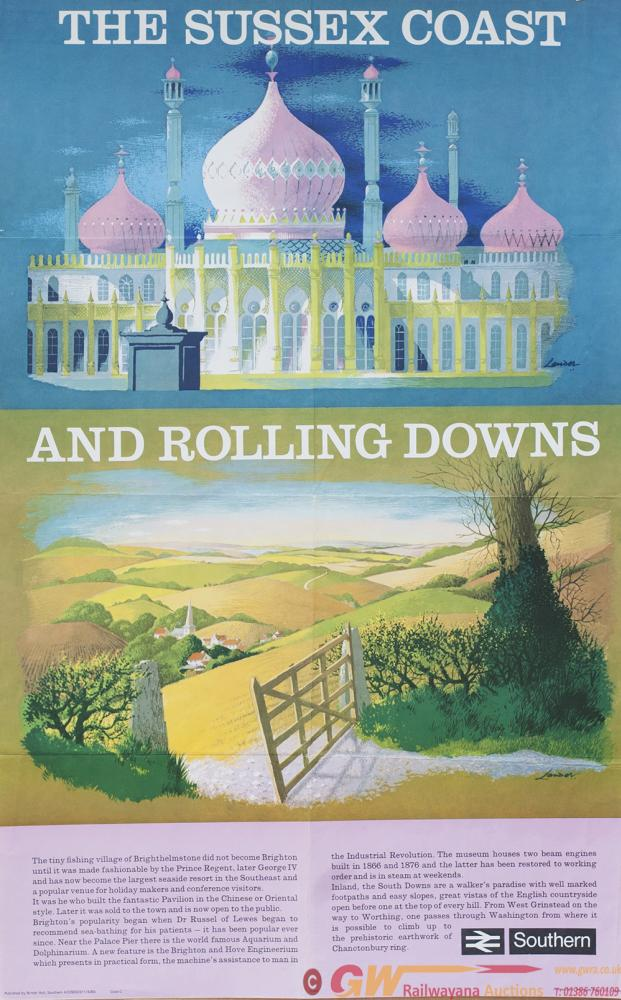 Poster BR THE SUSSEX COAST AND ROLLING DOWNS By