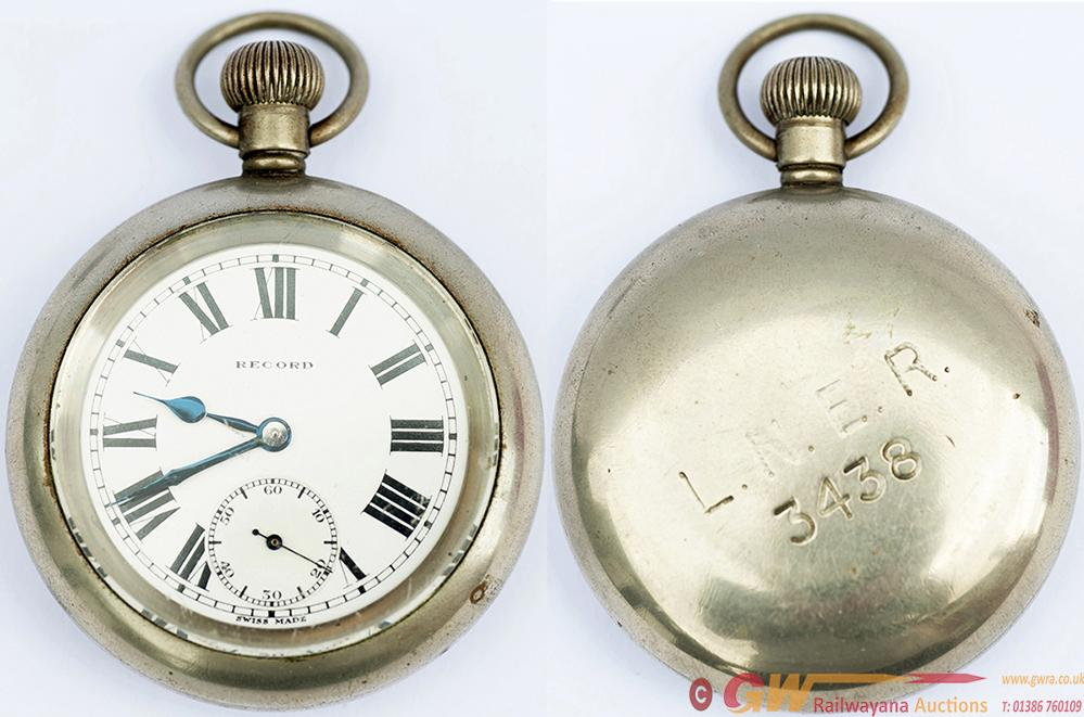 LNER Nickel Cased Pocket Watch With A Swiss Record