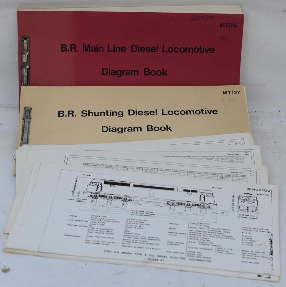 BR Official Locomotive Diesel Diagram Books And