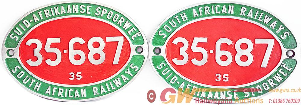 South African Alloy Cabside Numberplates, A Pair