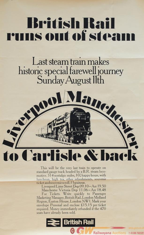 Poster British Railways 'British Rail Runs Out Of