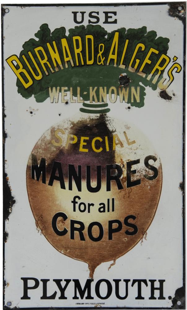 Enamel Advertising Sign 'Use Bernard & Algers Well
