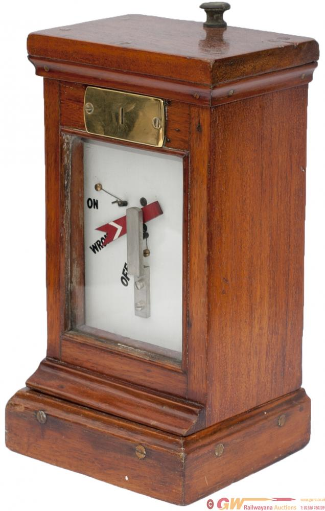 GWR Mahogany Cased Distant Signal Indicator