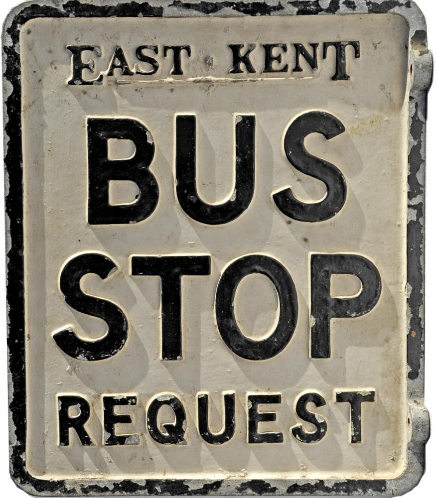 Cast Aluminium Bus Stop Wall Mounted Sign; Double
