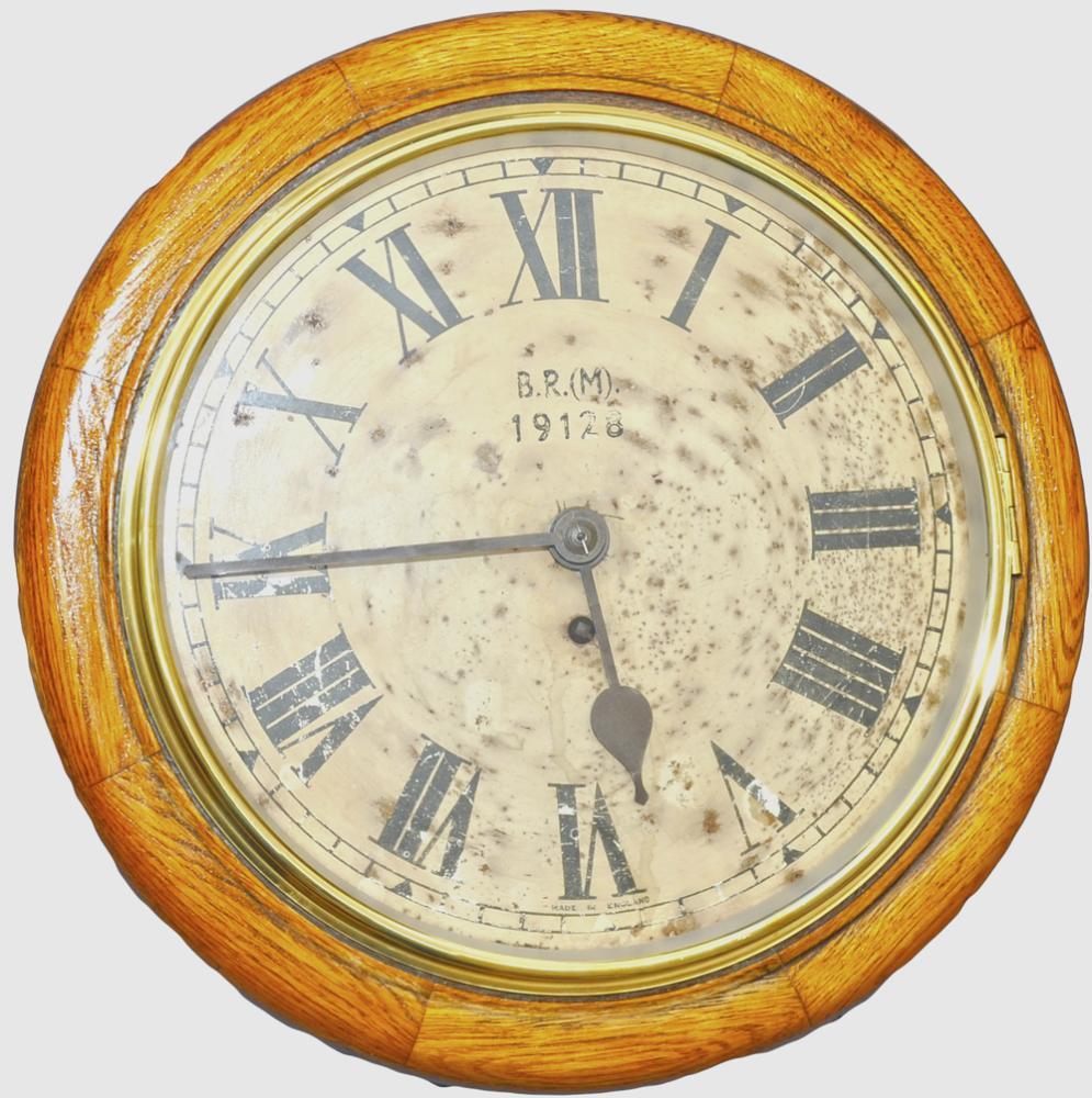 BR(M) 12 Oak Cased Fusee Clock. Original Dial