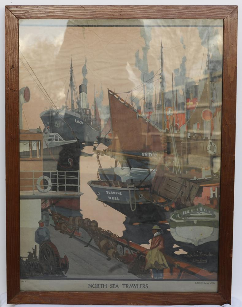 LNER Waiting Room Poster. North Sea Trawlers By