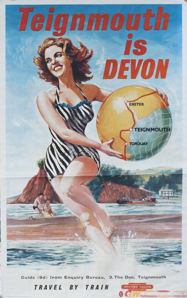 Poster BR TEIGNMOUTH IS DEVON By Glenn Steward.