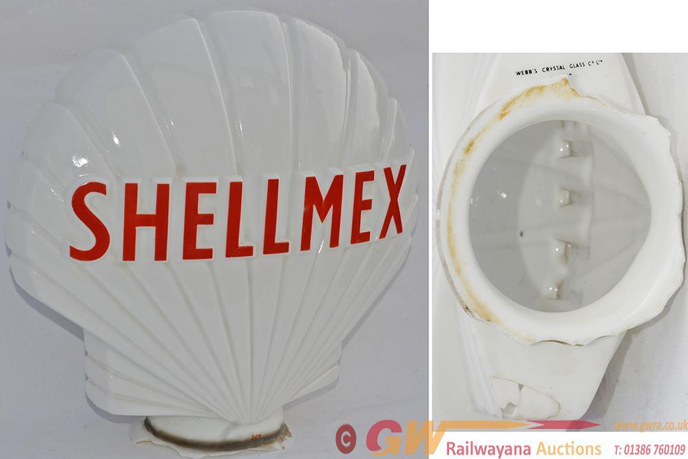 Glass Petrol Pump Globe SHELLMEX Marked On The
