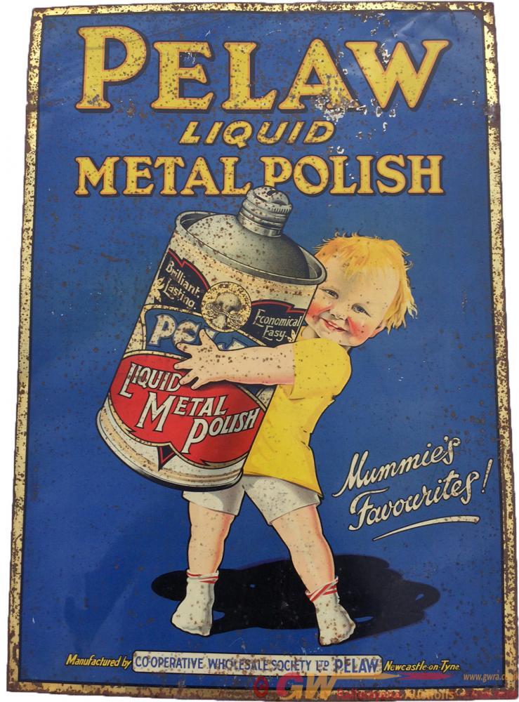 Tinplate Advertising Sign 'Pelaw Liquid Metal