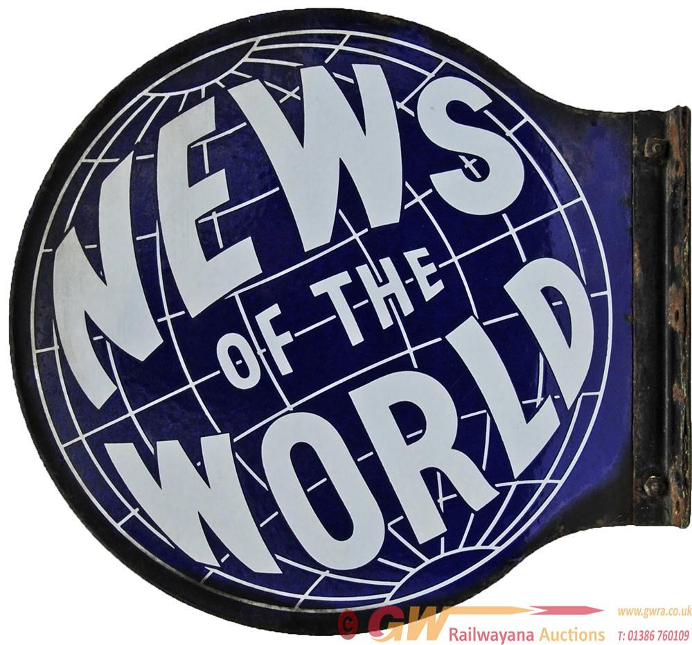 Enamel Advertising Sign 'News Of The World',