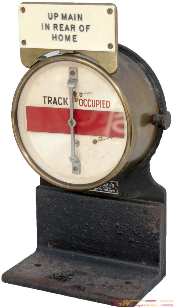 GWR Brass Cased Circular Track Circuit Banner