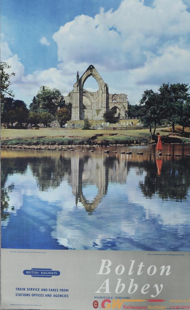 Poster BR(NE) 'Bolton Abbey - Wharfedale