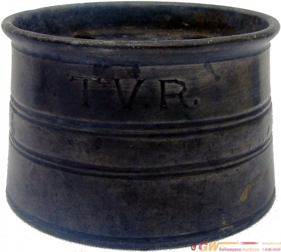 Taff Vale Railway Pewter Inkwell Hand Engraved