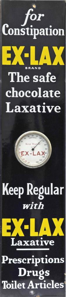 Enamel Advertising Sign With Integral Thermometer