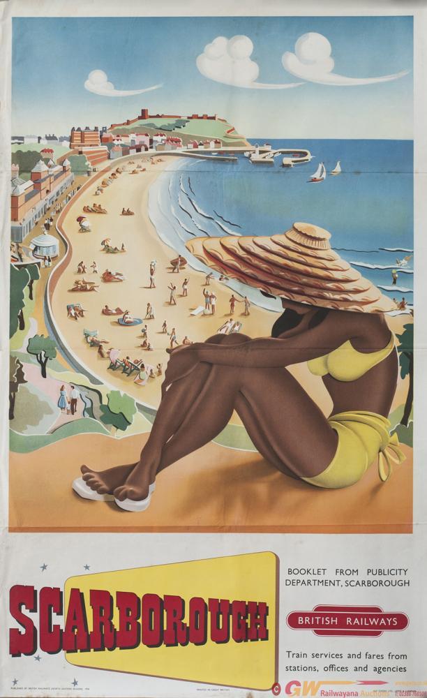Poster BR(NE) SCARBOROUGH, 1954 Artist Unknown.