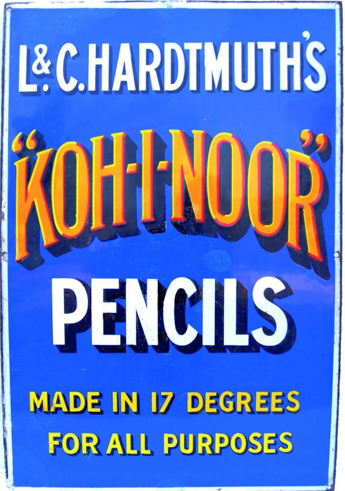 Enamel Advertising Sign 'L&C Hardmuth's Koh - I -